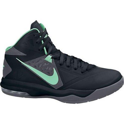 Nike Men's Air Max Body U Black/Green Glow/Dark Grey Basketball Shoes 12 Men US 599350-008