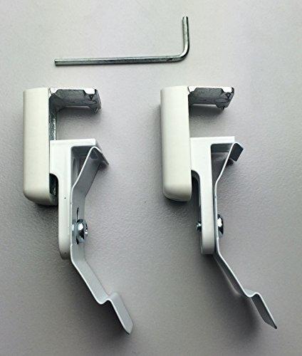KLEMMFLEX Klemmträger DR-K für Duo-Rollos / Doppelrollos ~ OHNE BOHREN ~ Klemmbereich: 5 bis 25mm ~ Für PVC-, Metall und Kippfenster ~ 1 Paar = 2 Stück