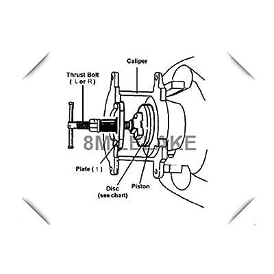 8MILELAKE Brake Caliper Wind Back Tool 24pc Professional Disc Brake Caliper Tool Set: Automotive