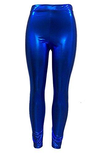 High Moda Slim Leggins Donna Matita Fit Pelle Chic Vita Sintetica Autunno Pantaloni Ragazza Invernali Eleganti Lunga Trousers Pelle Waist Tubino Moda Di Abbigliamento Elastica Blau Leggins Monocromo HwxIxa6q