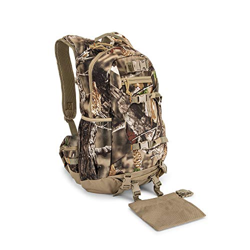 North Mountain Gear Waterproof Daypack Fall Brown Hunting Backpack, Bow and Rifle Compatible