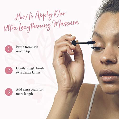 100% PURE Fruit Pigmented Ultra Lengthening Mascara, Blueberry, 0.35oz, Blue Mascara for Natural Lash Extension, Long…