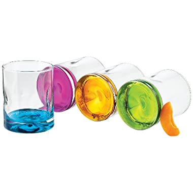 Libbey Impressions Colors Double Old Fashioned Glass Set,  4-Piece