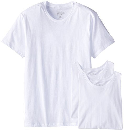 Calvin Klein Men's Cotton Classics Crew Neck T-Shirt, White (3 Pack), Medium ()