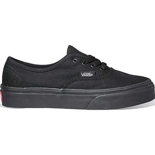 Vans Authentic Girl - Vans Kid's Authentic Black/Black Skate Shoe
