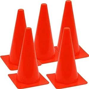 اقماع تدريب كرة القدم، 5 قطع - احمر