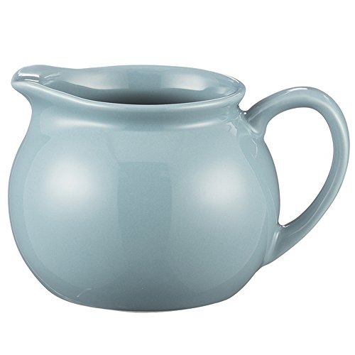 - Mason Cash Classic Kitchen Creamer Pitcher, Durable Stoneware Jug With Handle, 11-Fluid Ounces, Microwave and Dishwasher Safe, Turquoise