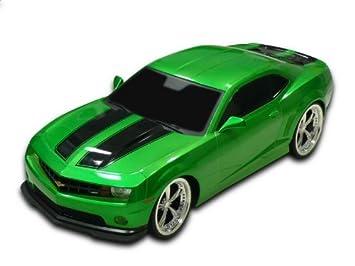 1 18 Scale 2011 Chevrolet Camaro Rs Ss Green W Black Stripes Radio