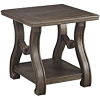 Tanobay End Table Square/Gray/Traditional