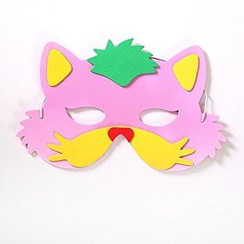 Mascara de zorro para colorear