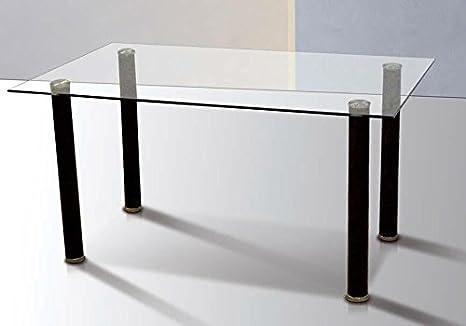 Mobelcenter - Mesa Comedor Cristal Transparente - 140x75cm (0856) + ...