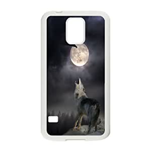 James-Bagg Phone case Wolf love noon,wolf pattern For Samsung Galaxy S5 FHYY449693