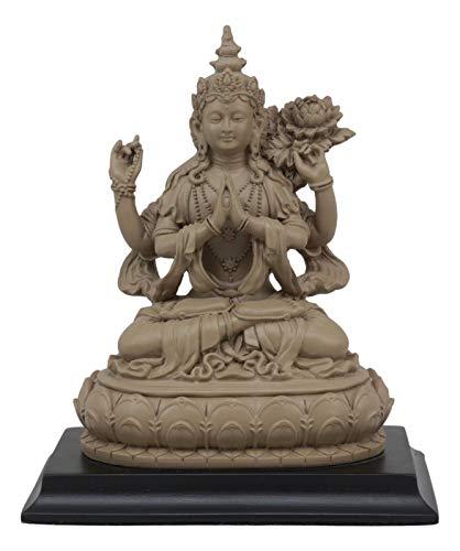 - ShopForAllYou Figurines and Statues Avalokiteshvara Kuan Yin Seated On Lotus Throne Statue 7