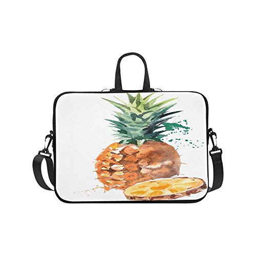 Coveted Pineapple Watercolor Print Portable Laptop Sleeve Ca