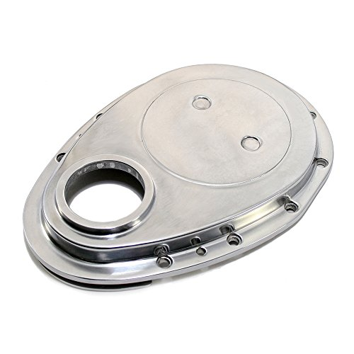 (Assault Racing Products A6040 Small Block Chevy Timing Cover Polished Aluminum 55-95 SBC 327 350 400)