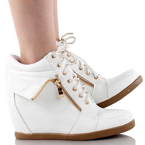 Top Moda Femmes Peter-30 Sneakers De Mode Blanc