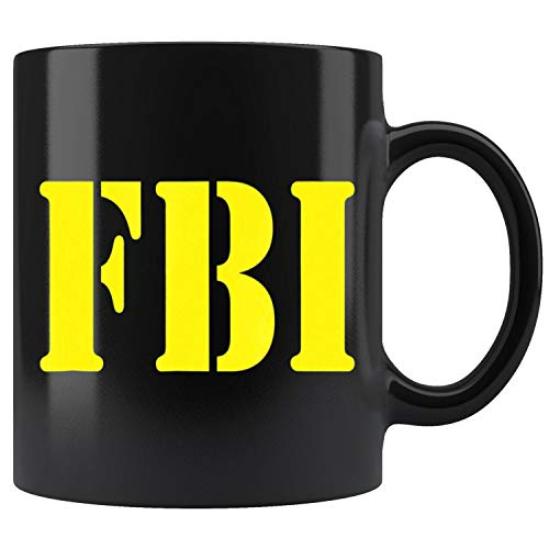 FBI Halloween Costume Mug Coffee Mug 11oz Gift Tea Cups 15oz -