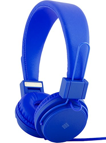Polaroid PHP8500BL Stereo Headphones With Microphone, Fordable, Tangle-Proof, Compatible With All Devices