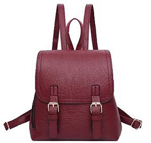 Daypack à Dos Sacs Femme AalarDom Dacron Zippers Vineux Travail à Rouge TSFBG181823 Mode bandoulière Sacs Noir qHw80YU