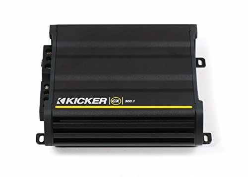 Amp Mono Class (Kicker 12CX3001 600 Watt MONO Class D Power Car Audio Amplifier Amp CX300.1)