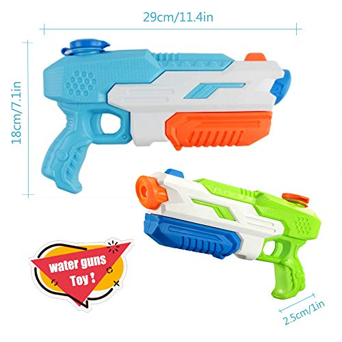 ANDSTON Water Gun for Kids Adults, 2 Pack Super Squirt Guns, 600CC Water Soaker Blasters Long Range Water Gun Toy for Boys Summer Swimming Pool Beach Sand Water Fighting