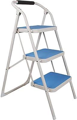 Escalera-Casa, Engrosamiento Plegable, Escalera Interior, Escalera Multifunción de Tres Pasos, Escalera Móvil, Escalera Mecánica, Escalera de Escalada,Azul,Un tamaño: Amazon.es: Deportes y aire libre