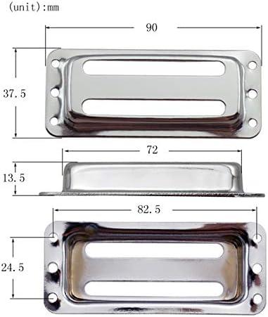 RETYLY 2Pcs Micros en M/éTal Micros Double Bobinage Du Cou Col Humbucker pour Accessoires de Guitare /éLectrique