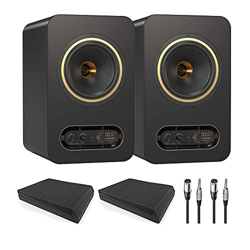 Tannoy GOLD 7 Speakers Pair w/AxcessAbles Isolation Pads (Pair) and Cables