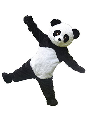 Panda Mascot Costume Adult Size Cartoon Halloween Fancy Dress Suit