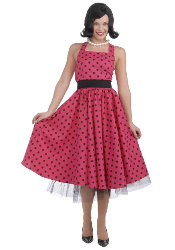 [Forum Novelties Women's Pretty In Polka Dots Costume, Pink, X-Small/Small] (Betty Boop Wig)
