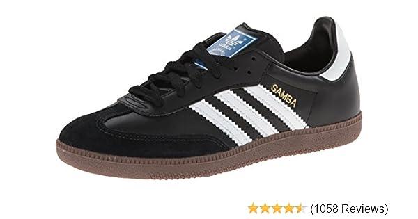 huge discount 4fb23 d61de Amazon.com   adidas Originals Men s Samba Soccer-Inspired Sneaker,  Black White Gum, 8 M US   Fashion Sneakers