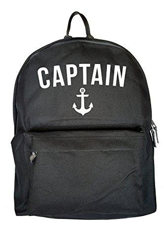 Captain Anchor Sea Drucken Rucksack Gelegenheits Schwarz Tasche