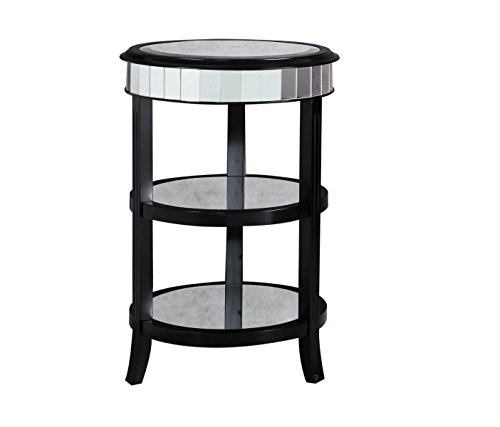 Pulaski Jenna Accent Table, 18 by 27.5 by 18-Inch, Black