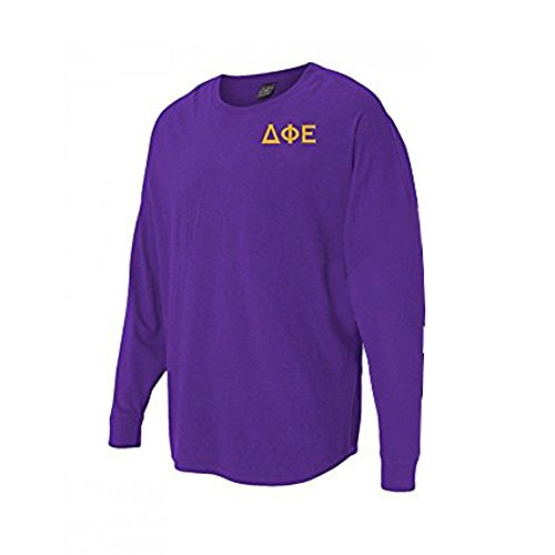 Women's Delta Phi Epsilon Sorority Game Day Billboard Long Sleeve Jersey XX-Large Purple