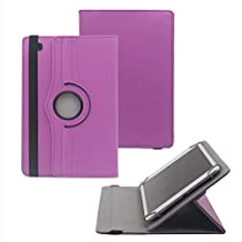 """Tsmine New Acer Iconia One 10 (B3-A40) 10.1"""" Case - Universal Rotary Protective Leather Case Stand Cover for Acer Iconia One 10, Purple"""
