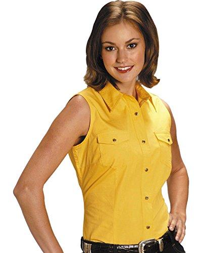 Stretch Poplin Sleeveless Shirt - 1
