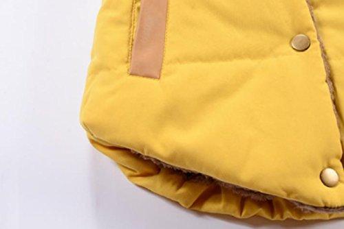 Delle Incappucciati Angelspace Giù Giallo Tasche Calde Cardigan Solido Donne Accogliente Gilet Parka tgOC7