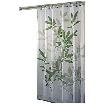 InterDesign 35630 Leaves Fabric Shower Curtain