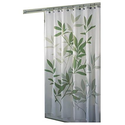 InterDesign 35630 Leaves Fabric Shower Curtain   Standard, 72u0026quot; X  72u0026quot;, ...