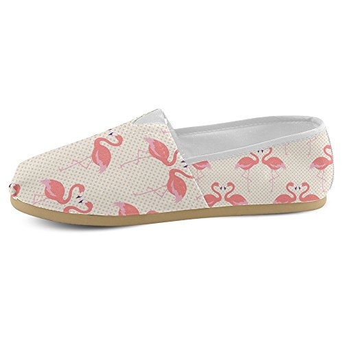 Mocassini Donna Interestprint Classico Casual Tela Slip On Fashion Scarpe Sneakers Mary Jane Flat Lovers Flamingo