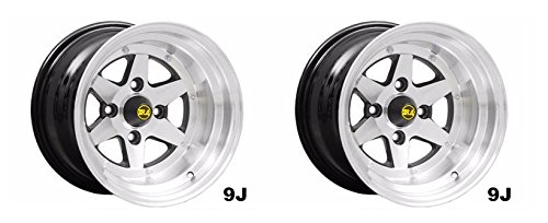 Longchamp Wheel set of 2 for Vintage Japanese cars 14x9 -25mm-114-3