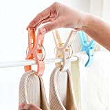 ️ Yu2d ❤️❤️ ️4 Pcs Large Bright Colour Plastic Beach Towel Pegs Clips to Sunbed Quilt Clips