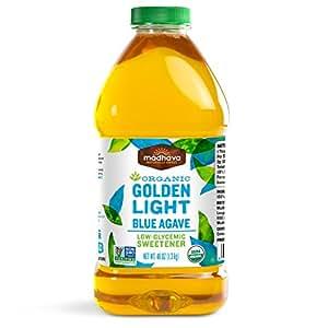 Madhava Organic Agave Nectar, Light, 46 Ounce (Pack of 2)
