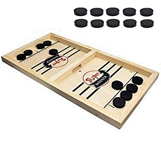 BOLER Fast Sling Puck Game Paced, Table Desktop Battle Winner Board Games Toys for Adults Parent-Child Interactive Chess Toy Board Table Game, 22.7 x 11.8 Inch ( L X W)