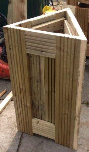 Pflanzkübel für Terasse, Holz, dreieckig: Amazon.de: Garten