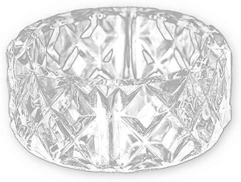 24k Square Ring - Plastic Napkin Holder Ring, Clear 2