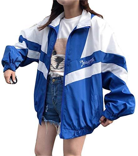 Donna Moda Relaxed Misti Colori Giovane Stlie Autunno Giacche Reue Fashion Giubbino Grazioso Jacket Camicetta Digitale Leggero Cappotto Pattern Lunga Primaverile Manica Estivi Casual Sportivo SvfvdC6q
