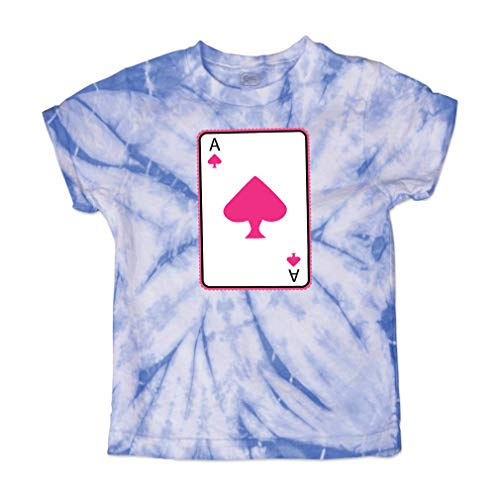 Ace Spade Short Sleeve Crewneck Baby Boys-Girls Cotton Tie Dye T-Shirt Fine Jersey - Carolina Blue, 4T (Spades Tie Dye T-shirt)