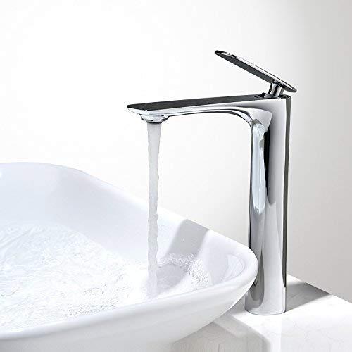 JingJingnet タップキッチンタップ洗面台の蛇口冷たいとお湯のミキサーバスルームのミキサー洗面器のミキサータップキッチンやバスルームのタップのためのホットとコールドの銅白 (Color : 白) B07SCWVYRG 白