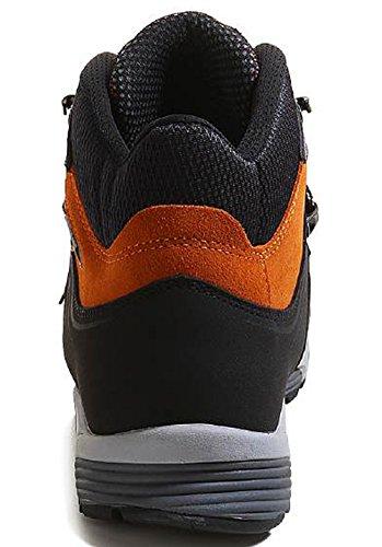 Meindl Zapatos de Senderismo Hombre gris antracita y naranja
